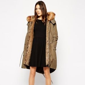 ASOS Parka With Detachable Faux Fur Lining & Hood